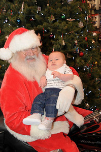 At a mere 3 1/2 months old, Dylan Merkel was among the youngest to show up for his picture with Santa at Schaeffer's Harley-Davidson.  Hamburg, PA