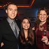 Justin Melendez, Brookdale student scholarship recipient and speaker; Sylvia Melendez, and Juliana David