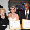 Monmouth County Freeholder Lillian Burry with honorees Carol Stillwell and Webster Trammell.
