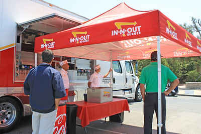 In-N-Out served lunch.