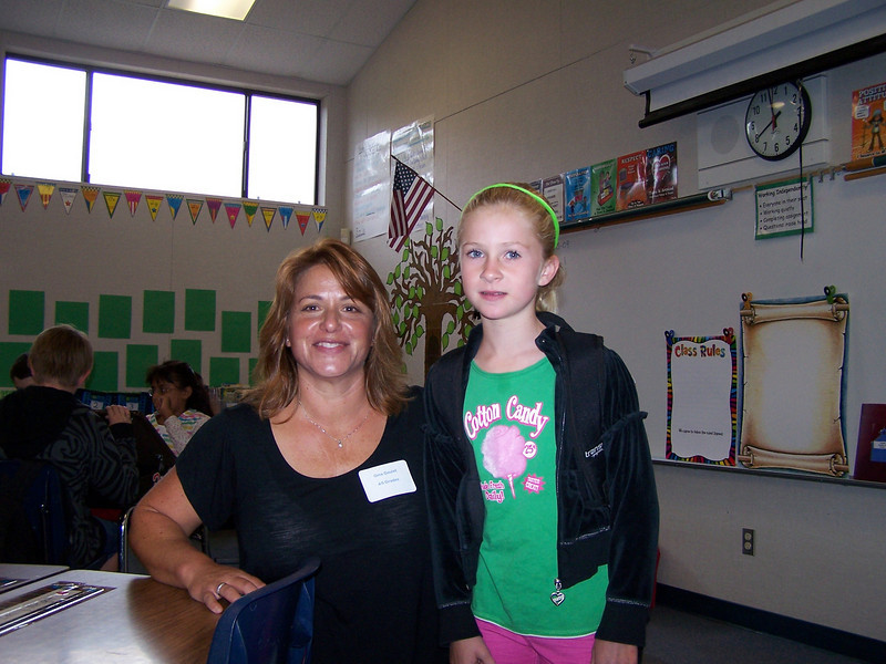 Emily with her teacher, Gina Goulet