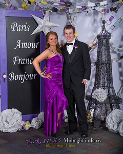 Prom, Midnight in Paris, Blaine High School, 2013