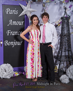 Blaine High School Prom 2013, Midnight in Paris