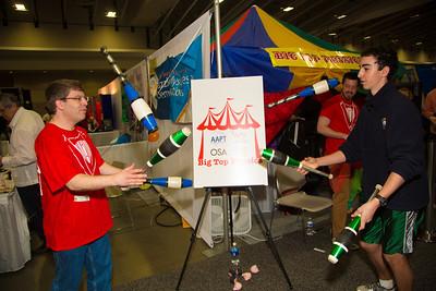 Jugglers David Ehrenstein and Sam Sam Schiff at Big Top Physics