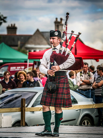 Solo Piping at Aboyne Games 2010