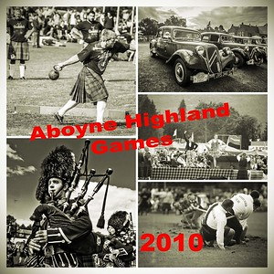 Pipers at Aboyne Games 2010