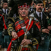 Drum Major Bert Summers from the Turriff & District Pipe Band