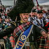 Drum Major Bill Barclay from the Grampian Police Pipe Band