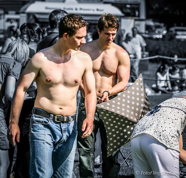 Shirtless in Bathgate