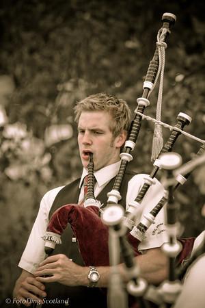 Piper in sepia Bathgate Highland Games 2007