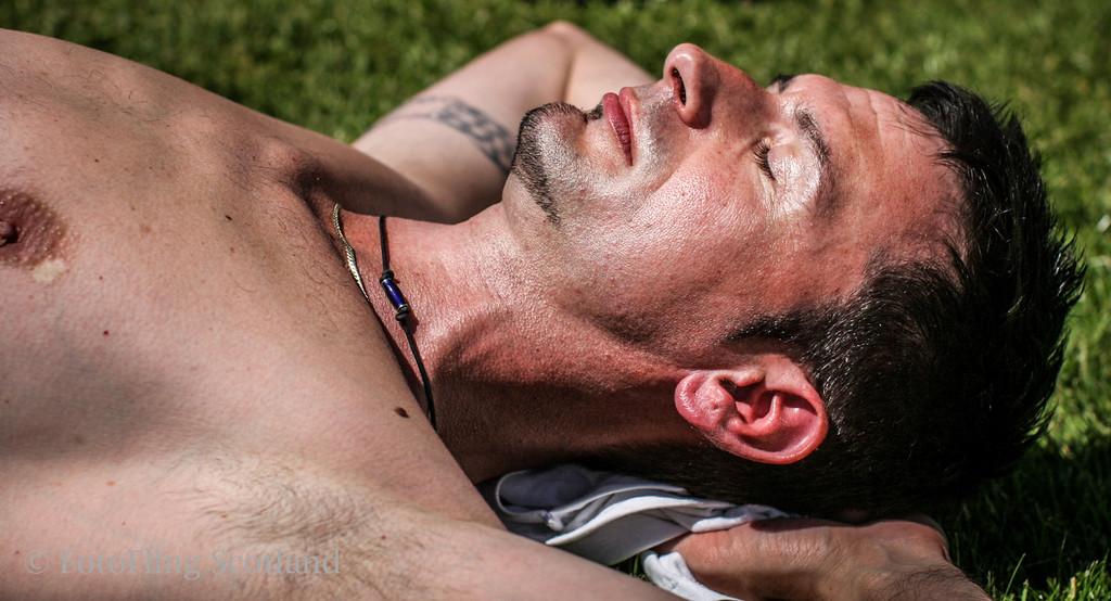 Sunbathing in Bathgate Bathgate & WestLothian Highland Games 2009