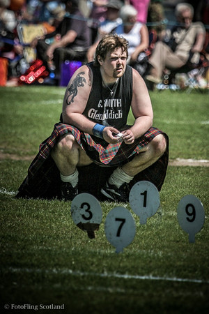 3 7 1 9 Craig Smith awaits his turn in the heavyweight contest at Bathgate & WestLothian Highland Games 2009