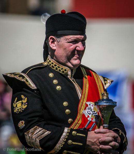 Drum Major in uniform Bathgate & WestLothian Highland Games 2009