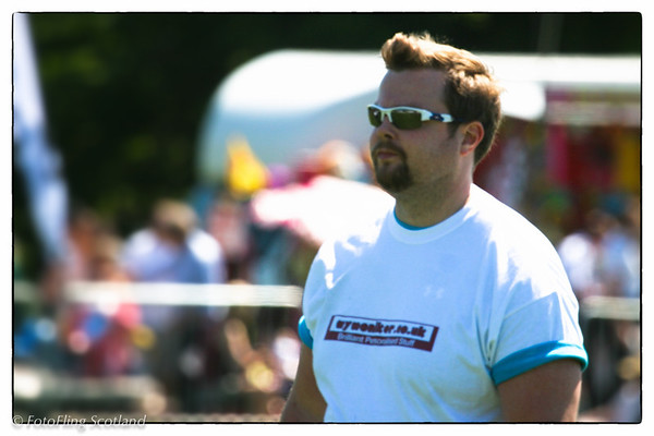 Craig Smith - Heavyweight Contestant West Lothian Highland Games 2012