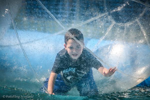 Boy in a bubble West Lothian Highland Games 2012
