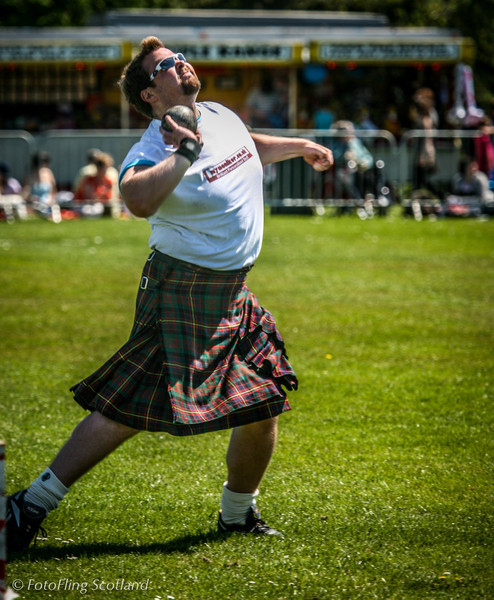Craig Smith puts the shot West Lothian Highland Games 2012