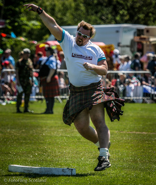 Craig throws hard West Lothian Highland Games 2012