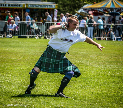 Pu the Shot West Lothian Highland Games 2012