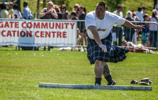 Large Heavy West Lothian Highland Games 2012