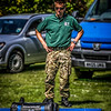 Naval Squaddie contemplates Powerbag<br /> West Lothian Highland Games 2012