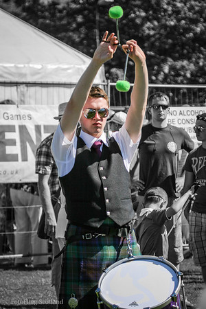 The Pipe with the Green Pom Poms West Lothian Highland Games 2012