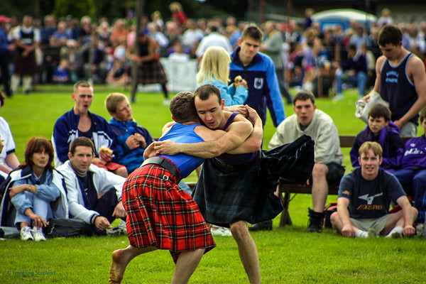 Scottish Backhold Wrestling at Bridge of Allan Games 2001