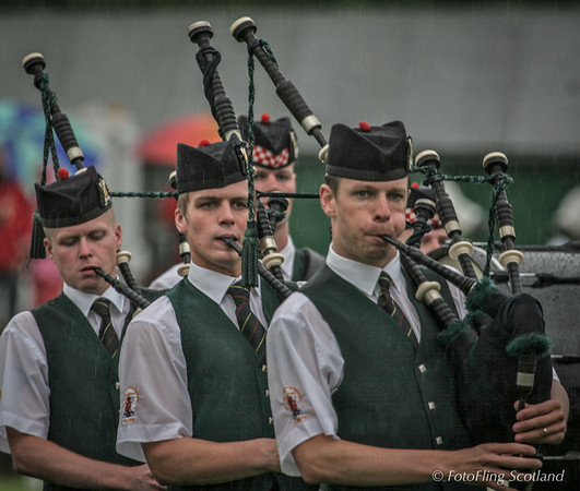 Piping in the rain