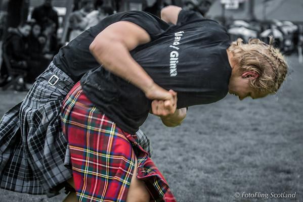 Scottish Backhold Wrestling with Icelandic Contestants