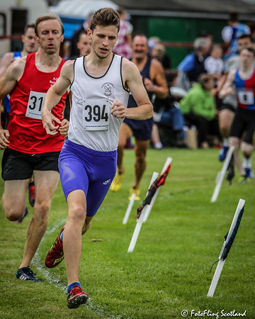 Athlete David Allan leads