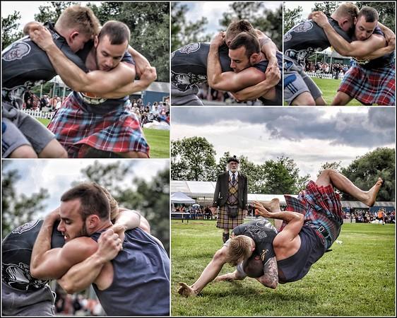 Bridge of Allan Highland Games Wrestling Collage