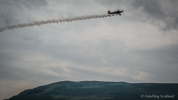 Flying over Lochearnhead