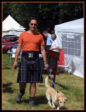 The Kiltie and his dog