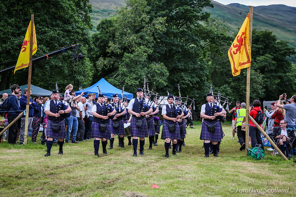 Pipe Band Enters Games Field