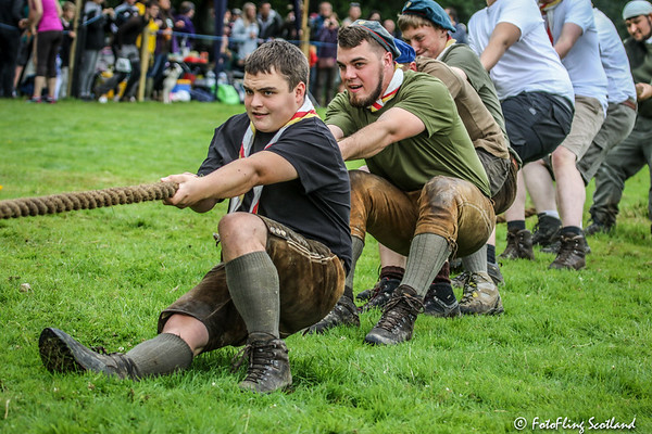 German Scouts Tug O' War Team