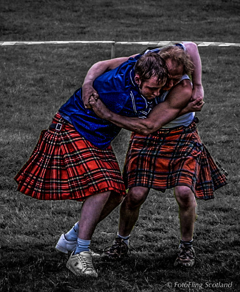 Wrestlers at Stirling Highland Games