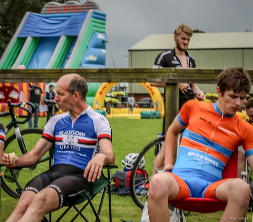 Cyclists Chilling Out