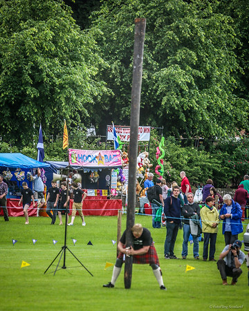 Caber Toss by Bruce Robb