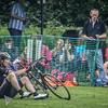 Cyclist takes a fall