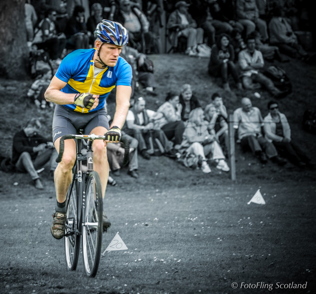 Cyclist Track Competitor