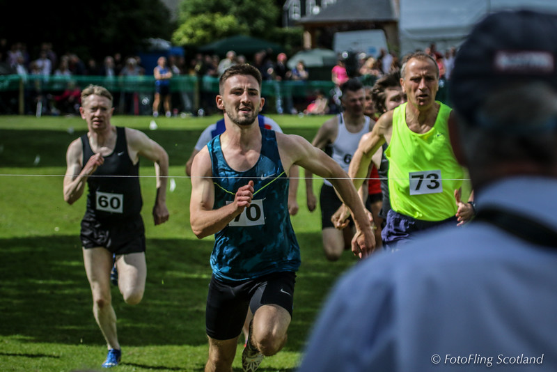 Lee Goodfellow comes up to finish line