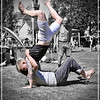 Ryan Ferrey cartwheels at Ceres Highland Games