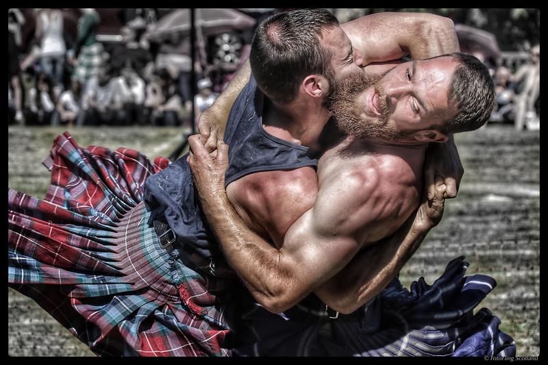 Backhold Wrestling at Ceres Highland Games 2018