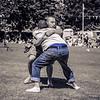 Wrestling Blue Jeans