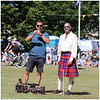 Fred Siriex of 'First Dates' at Ceres Highland Games filmed for a new ITV production 'The Ultimate Challenge'.