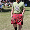 Adam Kellogg sports kilt with pockets at Ceres Highland Games