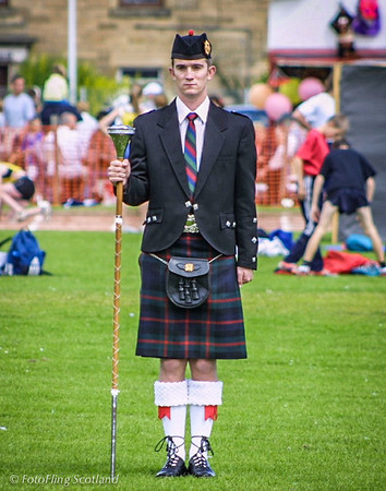 Drum Major Inverkeithing Games 2001