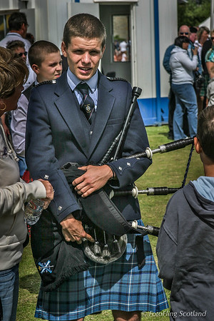 Young Kilted Piper