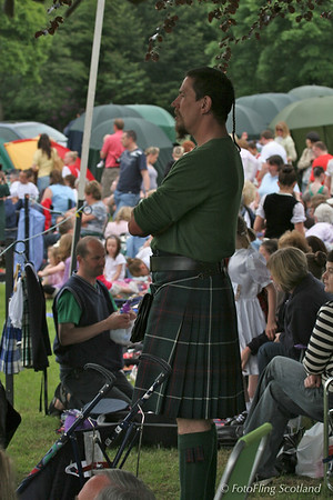 Kilting at Strathmore Highland Gathering