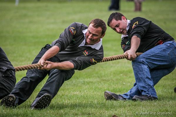 Cawdor Tug O' War team
