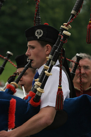 Piping at Strathmore Highland Gathering